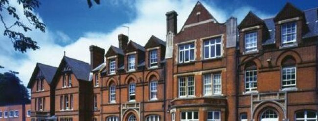 Front view of a UK private boarding school in England