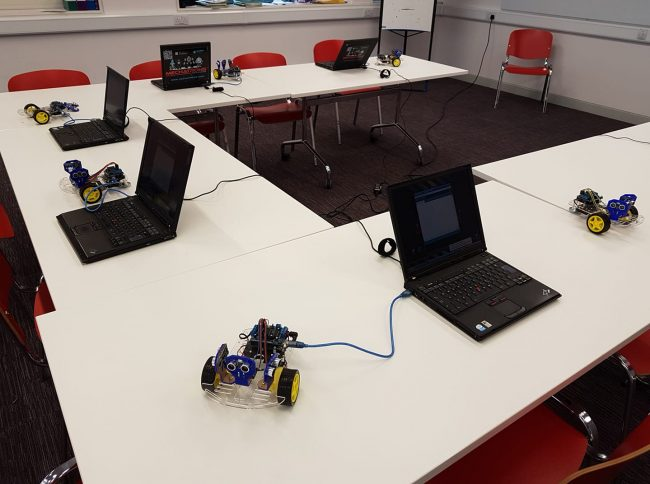 New Horizons Summer Camp Ireland - IT equipment and robots