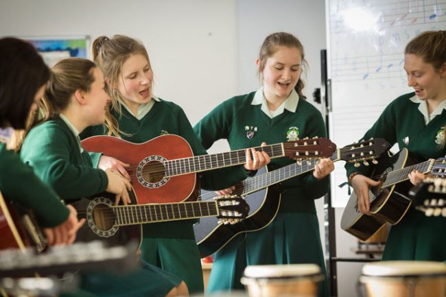 Music class in an Irish high school