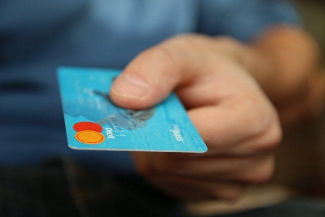 spending money on card